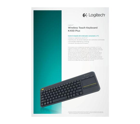 teclado logitech K400 PLUS f1