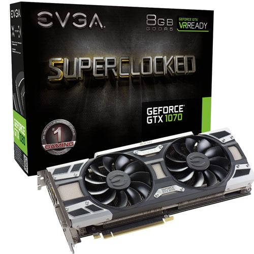 Tarjeta  EVGA GeForce GTX 1070 8GB GDDR5 SC F1